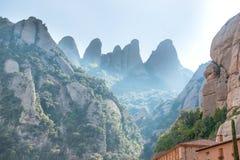 Monasterio de Montserrat en Barcelona, España Imagenes de archivo