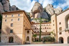 Monasterio de Montserrat en Barcelona, España Foto de archivo libre de regalías