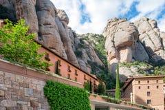 Monasterio de Montserrat en Barcelona, España Fotos de archivo