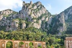 Monasterio de Montserrat en Barcelona, España Fotos de archivo libres de regalías
