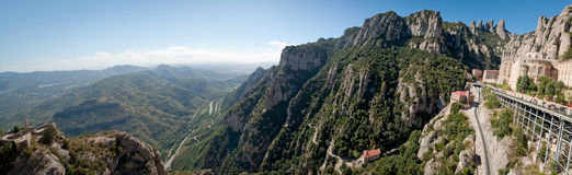 Monasterio de Montserrat, España Fotografía de archivo