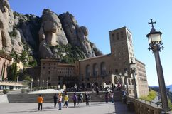Monasterio de Montserrat, España Imagenes de archivo