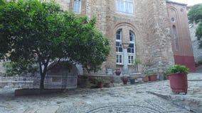 Monasterio de Panteleimon del santo, la iglesia principal, el monte Athos, Grecia metrajes