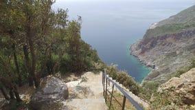Monasterio de Panteleimon del santo, la iglesia principal, el monte Athos, Grecia almacen de video