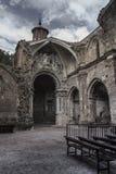 Monasterio de piedra interior en Zaragoza, España Imagen de archivo libre de regalías