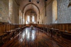 Monasterio de Poblet, Tarragona, España imagenes de archivo