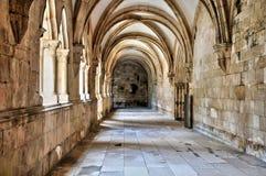 Monasterio de Portugal, histórico y del pisturesque de Alcobaca Foto de archivo
