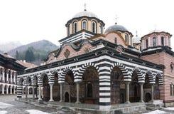 Monasterio de Rila en Bulgaria imagenes de archivo