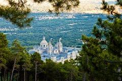 Monasterio de San Lorenzo de El Escorial de arriba imágenes de archivo libres de regalías