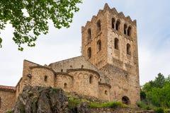 Monasterio de San Martín du Canigou Fotos de archivo