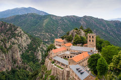 Monasterio de San Martín du Canigou Imágenes de archivo libres de regalías