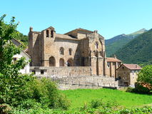 Monasterio de San Pedro de Siresa ( Spain ) Stock Photo