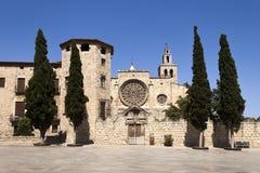 Monasterio de Sant Cugat Fotografía de archivo libre de regalías