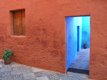 Monasterio de Santa Catalina, Arequipa, Perú fotografía de archivo libre de regalías