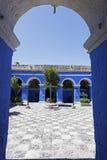 Monasterio de Santa Catalina en Arequipa imagen de archivo