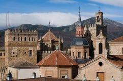 Monasterio de Santa María de Guadalupe. Caceres fotografía de archivo