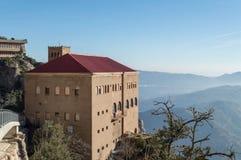 Monasterio de Santa María de Montserrat españa Imagen de archivo