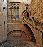 Monasterio de Santa María de Poblet, España Imagen de archivo libre de regalías