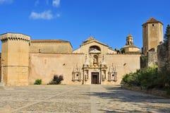 Monasterio de Santa María de Poblet, España Foto de archivo libre de regalías
