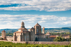 Monasterio de Santa María de Poblet, España Foto de archivo