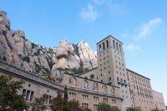 Monasterio de Santa Maria de Montserrat en Cataluña, España Fotos de archivo