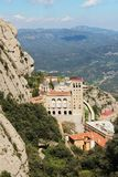 Monasterio de Santa Maria de Montserrat, España Foto de archivo libre de regalías