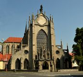 Monasterio de SEDLECKÝ con la catedral de la suposición en Kutna Hora, República Checa Foto de archivo libre de regalías