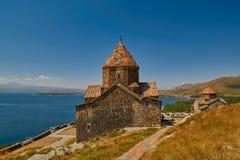 Monasterio de Sevanavank en el lago Sevan en Armenia Imagen de archivo