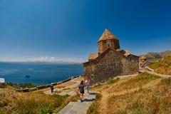 Monasterio de Sevanavank en el lago Sevan en Armenia Imagen de archivo libre de regalías