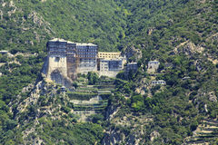 Monasterio de Simonopetra Imagen de archivo libre de regalías