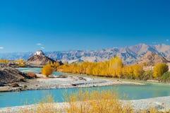 Monasterio de Stakna, Leh, Ladakh, la India Foto de archivo libre de regalías