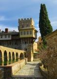 Monasterio de Stavronikita en Mt Athos Imagen de archivo