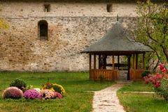 Monasterio de Sucevita, Bucovina Rumania Imagenes de archivo
