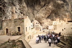 Monasterio de Sumela foto de archivo libre de regalías