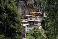 Monasterio de Taktshang en Bhután Imagen de archivo libre de regalías