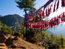 Monasterio de Taktshang en Paro (Bhután) Imagenes de archivo