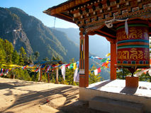 Monasterio de Taktshang en Paro (Bhután) Imagen de archivo
