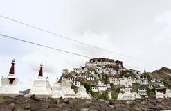 Monasterio de Thiksay - Leh la India Foto de archivo libre de regalías