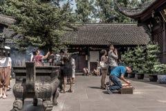 Monasterio de Wenshu, Chengdu, China Fotografía de archivo libre de regalías