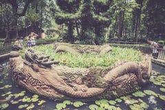 Monasterio de Wenshu, Chengdu, China Foto de archivo