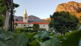 Monasterio de Zaostrog en Croacia foto de archivo libre de regalías