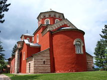 Monasterio de Zica, Serbia Fotografía de archivo libre de regalías