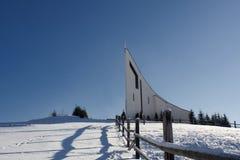 Monasterio del capuchón en la colina en Raticov en Detva Eslovaquia Fotografía de archivo