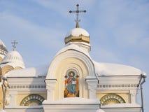 Monasterio del hombre de Piously-Nikolaev. Foto de archivo