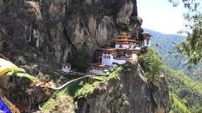 Monasterio del palphug de Taktshang almacen de video