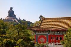 Monasterio del Po Lin imágenes de archivo libres de regalías