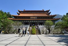 Monasterio del Po Lin, Hong-Kong Imagenes de archivo
