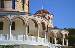 Monasterio del santo Nectarios en Aegina Grecia Fotografía de archivo