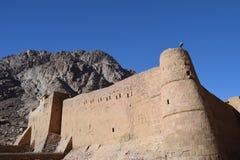 Monasterio del siglo IV del ` s del St Catherine, base del Mt Sinaí, Egipto Foto de archivo libre de regalías
