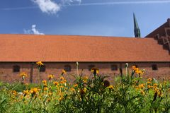 Monasterio del Vor Frue, un monasterio carmelita en Elsinore Helsing Imagen de archivo